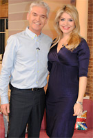 Holly Willoughby wearing the Indigo Maternity Dress by Tiffany Rose