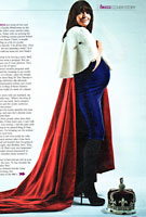 Claudia Winkleman in The Sun's Buzz Magazine wearing the Indigo Maternity Dress by Tiffany Rose