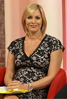 Jenni Falconer on ITVs This Morning wearing the Grace Maternity Dress (Black) by Tiffany Rose