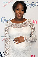 Angellica Bell wearing the Chloe Maternity Dress (Ivory) by Tiffany Rose at the Comfort Prima High Street Fashion Awards 2011