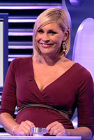 Jenni Falconer wearing the Indigo (Berry) Maternity Dress by Tiffany Rose on BBC National Lottery
