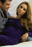 Una Healy (The Saturdays) wearing the Juniper Maternity Jumper Dress by Tiffany Rose in Hello Magazine