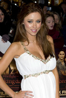 Una Healy wearing the Grecian Maternity Dress by Tiffany Rose at the Twilight: Breaking Dawn Premiere