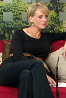 Sybil Mulcahy wearing the Slimfit Maternity Trousers (Black) by Tiffany Rose on TV3s The Morning Show