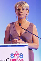 Sybil Mulcahy wearing the Anastasia (Heather) Maternity Dress by Tiffany Rose at the Maternity & Infant Awards 2011