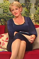 Sybil Mulcahy wearing the Sienna Maternity Dress (Blue) by Tiffany Rose on TV3s The Morning Show