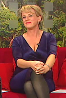 Sybil Mulcahy wearing the Indigo Maternity Dress (Blue) by Tiffany Rose on TV3s The Morning Show