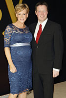 Sybil Mulcahy wearing the Amelia Maternity Gown (Windsor Blue) by Tiffany Rose at the Hennessy Cup