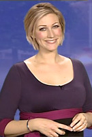 Becky Mantin wearing the Colour Block Maternity Dress by Tiffany Rose on ITV Weather