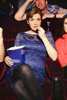 Dr Pixie McKenna wearing the Amelia Maternity Dress (Windsor Blue) by Tiffany Rose for Heat Magazine Photoshoot