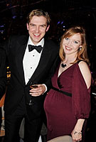 Susie Stevens wearing the Monaco Maternity Gown by Tiffany Rose at the Olivier Awards