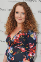 Jennie McAlpine wears the Lara Dress in Midnight Garden at the Manchester Evening News Diary Party