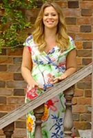 Kimberley Walsh in the Hawaiian Breeze Maxi Dress by Tiffany Rose