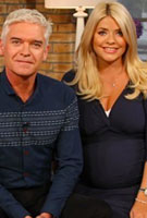 Holly Willoughby wears the Lara Maternity Dress (Bijou Blue) on ITV's This Morning