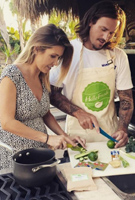 Audrina Patridge wearing the Alana Maxi Dress (Snow Leopard)