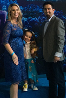 Carrie Milla wearing the Amelia Dress (Windsor Blue)
