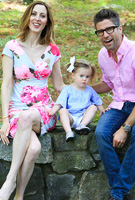 Eva Amurri wearing the Bardot Shift Dress (Grand Jardin)