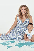 Kimberley Walsh wearing the Anastasia Gown Long (Porcelain Blue)
