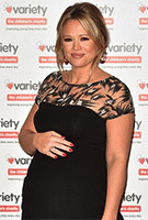 Kimberley Walsh wearing the Marie Gown Long (Vintage Noir)