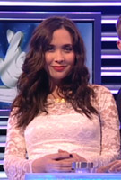 Myleene Klass wearing the Chloe Dress Short (Ivory)