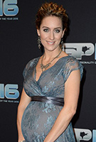 Amy Williams MBE wearing the Abendkleid Eden lang (Caspian Blue)
