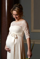 Amy Williams MBE wearing the Lucia Gown Long (Ivory)