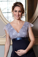 Amy Williams MBE wearing the Rosa Gown Long (Infinity Blue)