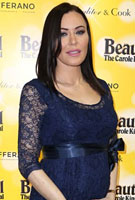 Linzi Stoppard wearing the Freya Dress Short (Arabian Blue)