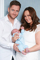 Chanelle Hayes wearing the April Nursing Dress (Ivory)