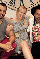 Natasha Bedingfield wearing the Sara Shift Dress (Snow Leopard)