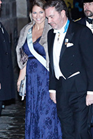 Princess Madeleine of Sweden wearing the Abenkleid Eden lang (Arabian Nights)