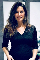 Laetitia Milot wearing the Suzie Dress (Black)