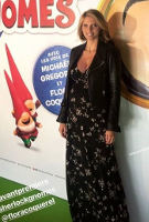 Sylvie Tellier wearing the Alana Maxi Dress (Night Blossom)