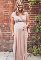 Anna Saccone-Joly wearing the Francesca Maxi Dress (Blush)