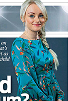 Katie McGlynn wearing the Sally Dress (Forest)