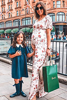 Sofia Gouveia wearing the Kimono Maxi Dress (Cherry Blossom Red)