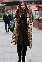 Myleene Klass wearing the Sienna Dress (Black)