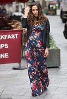 Myleene Klass wearing the Alana Maxi Dress (Midnight Garden)