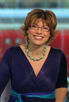 Kate Silverton wearing the Indigo Dress (Blue)
