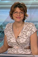 Kate Silverton wearing the Grace Dress (Ivory)
