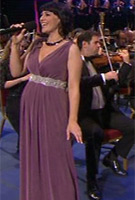 Annalene Beechey wearing the Anastasia Gown Long (Heather) with Diamante Sash