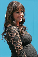Sheree Murphy wearing the Chloe Maternity Dress (Black) by Tiffany Rose at the 2011 AAMI Victoria Derby Day, Melborne