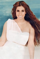 Stacey Solomon wearing the Asymmetrical Wedding Gown