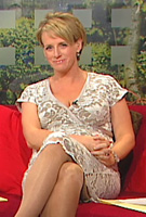 Sybil Mulcahy wearing the Grace Maternity Dress (Ivory) by Tiffany Rose on TV3s The Morning Show