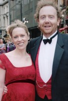 Beth Cordingly wearing the Eva Lace Gown (Scarlet)