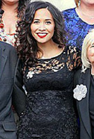 Myleene Klass wearing the Chloe Dress Short (Black)