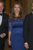 Princess Madeleine of Sweden wears the Amelia Gown Long (Blue) by Tiffany Rose