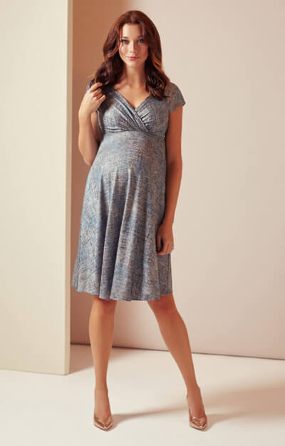 Alessandra Maternity Dress Short (Bronze Blue) by Tiffany Rose