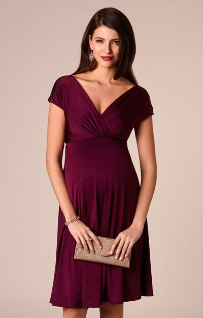 Alessandra Maternity Dress Short Berry by Tiffany Rose