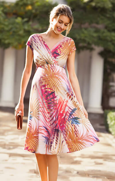 Alessandra Maternity Dress Short Hot Tropics by Tiffany Rose